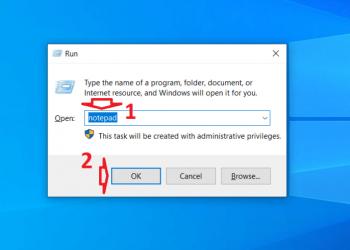 Cách xử lý lỗi không tìm thấy công cụ Notepad trong Windows 10
