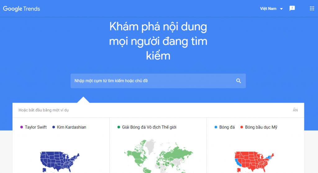 Công cụ Google Trends - Võ Chí Thành