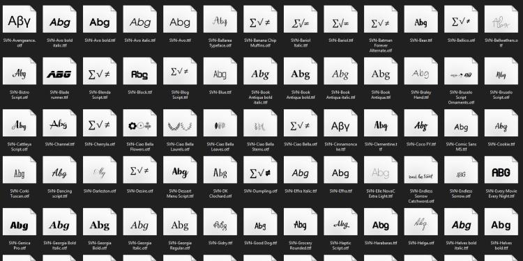 Bộ 254 font SVN Việt hóa dành cho nhà thiết kế