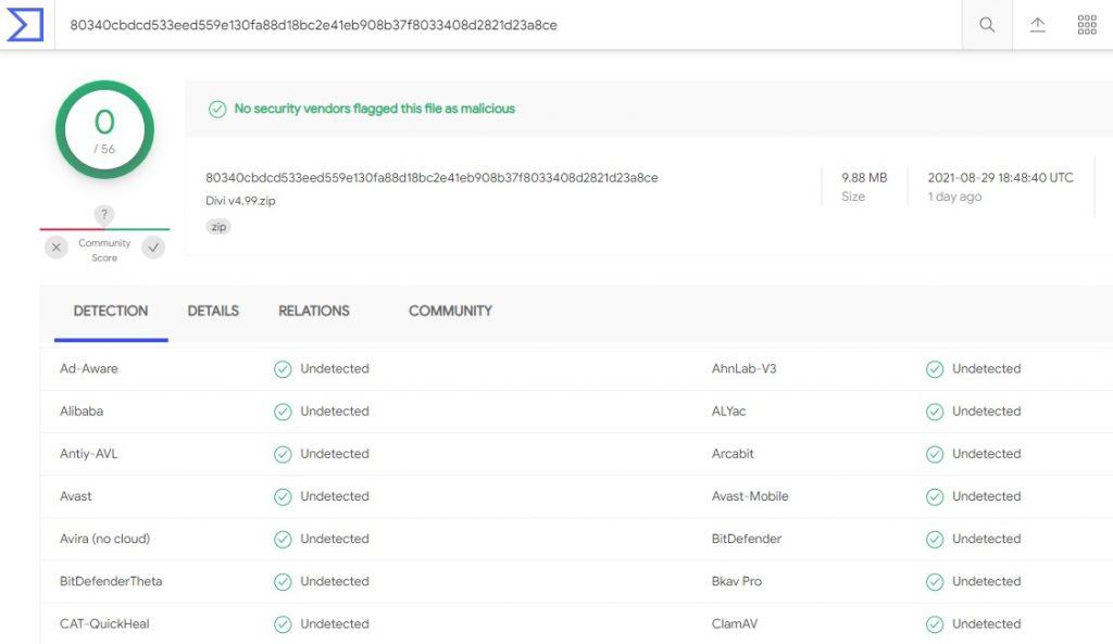 Tải xuống miễn phí Divi Theme v4.9.9 - Đã kiểm tra VirusTotal 100%