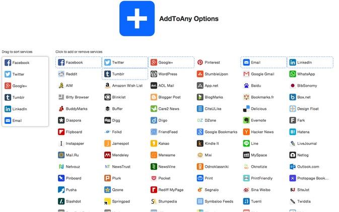 Plugin AddToAny Share Buttons - Thêm nút chia sẽ mạng xã hội WordPress tốt nhất - tổng hợp các nút mạng